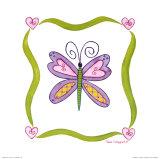 Lovebugs, Butterfly Kunstdruck von Tania Schuppert
