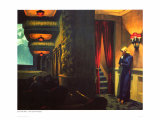 Cinéma à New York Reproduction procédé giclée par Edward Hopper