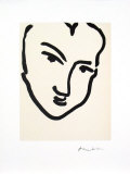 Nadia Au Visage PenchÈ Print by Henri Matisse