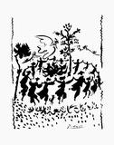 平和万歳 1960年 ポスター : パブロ・ピカソ