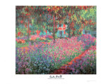 The Artist's Garden of Giverny, c.1900 Print by Claude Monet