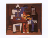 Trois musiciens Affiches par Pablo Picasso