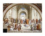 Ateenan koulu, yksityiskohta, n.1511 Posters tekijänä Raphael,
