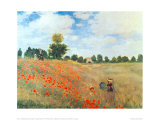 Field of Poppies, c.1886 Prints by Claude Monet