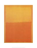 Orange und Gelb Poster von Mark Rothko