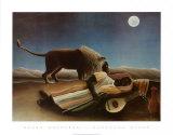 Sleeping Gypsy, 1897 Posters av Henri Rousseau