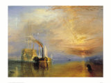 Le vaisseau le Téméraire Reproduction procédé giclée par J. M. W. Turner