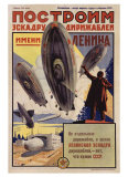 Lenin with Dirigibles Giclee-trykk