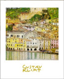 Malcesine Gardajärvellä Poster tekijänä Gustav Klimt