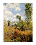 Ile Saint Martin, Vetheuil Posters av Claude Monet