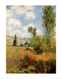 Ile Saint Martin, Vetheuil Kunstdruck von Claude Monet