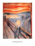 Skriget, ca.1893 Posters af Edvard Munch