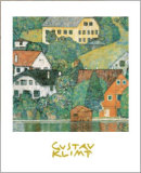 Houses at Unterach Pôsteres por Gustav Klimt