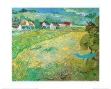 Sunny Meadow in Arles, c.1890 Poster av Vincent van Gogh