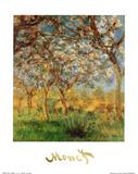 Springtime Plakater af Claude Monet