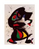 Aufrechte Figur Pôsteres por Joan Miró