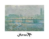 Charing Cross Bridge Posters por Claude Monet