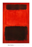 Marron et noir sur rouges, 1957 Art par Mark Rothko