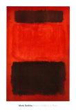 Marrón y negro sobre rojos, 1957 Arte por Mark Rothko