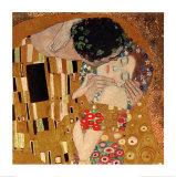 De kus, ca. 1907 (detail) Affiches van Gustav Klimt