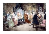 ルイ15世に別れの挨拶をするボリンブロク 高品質プリント : V. デ・パレデス