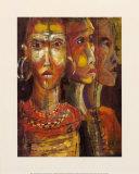 Tribal Ancestry III Láminas por Josiane York