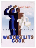 Wagons Lits, Cook Giclee Print by Adolphe Mouron Cassandre