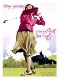 Golf in Germany Gicléetryck av Ludwig Hohlwein