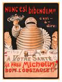 Le Pneu Michelin, Nunc Est Bibendum Giclee-trykk