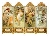 Seasons, 1896 Giclée-tryk af Alphonse Mucha