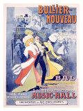 Bullier, Nouveau Bal Impressão giclée por Marcellin Auzolle