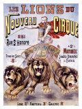 Les Lions Du Nouveau Circle Lámina giclée por C. Levy