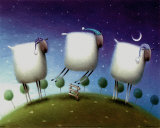 Insomniac Sheep Prints by Rob Scotton