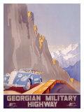 Georgian Military Highway Giclee Print by  Jitomirsky