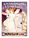 Champagne l'Etincelle Giclee Print by Emile Berchmans