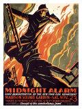 FDNY Midnight Alarm Giclée-Druck von Manuel Delosas