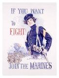 Join the Marines Giclee-trykk av Howard Chandler Christy