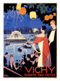Vichy, Comite des Fetes ジクレープリント