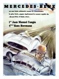 Mercedes Fangio Italian Grand Prix, c.1954 Giclee-trykk