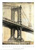 Pont de Manhattan Poster par P. Moss