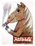Rossli Cigars Giclee Print by Herbert Leupin