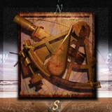 Sextant and Overlaying Compass Photographic Print by Colin Anderson