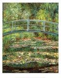 Japansk bro ved Giverny Poster av Claude Monet