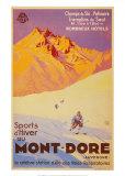 Sports d'hiver au Mont-Dore Affiches