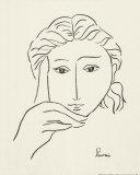 Woman's Face Sketch I Posters van Simin Meykadeh