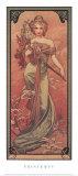 Printemps, 1900 Art by Alphonse Mucha