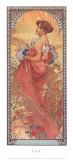 Verano, 1900 Arte por Alphonse Mucha