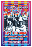 Van Halen at the Whiskey A-Go-Go Kunst af Dennis Loren