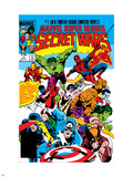 Secret Wars No.1 Cover: Captain America Vinilo decorativo por Mike Zeck