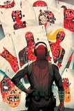 Deadpool Kills Deadpool 1 Cover: Deadpool Signe en plastique rigide par Mike Del Mundo